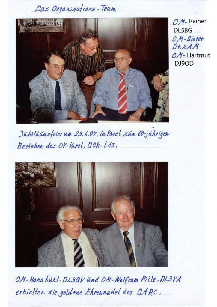 Chronik_DL3QV und DL3VA bekommen die Ehrennadel