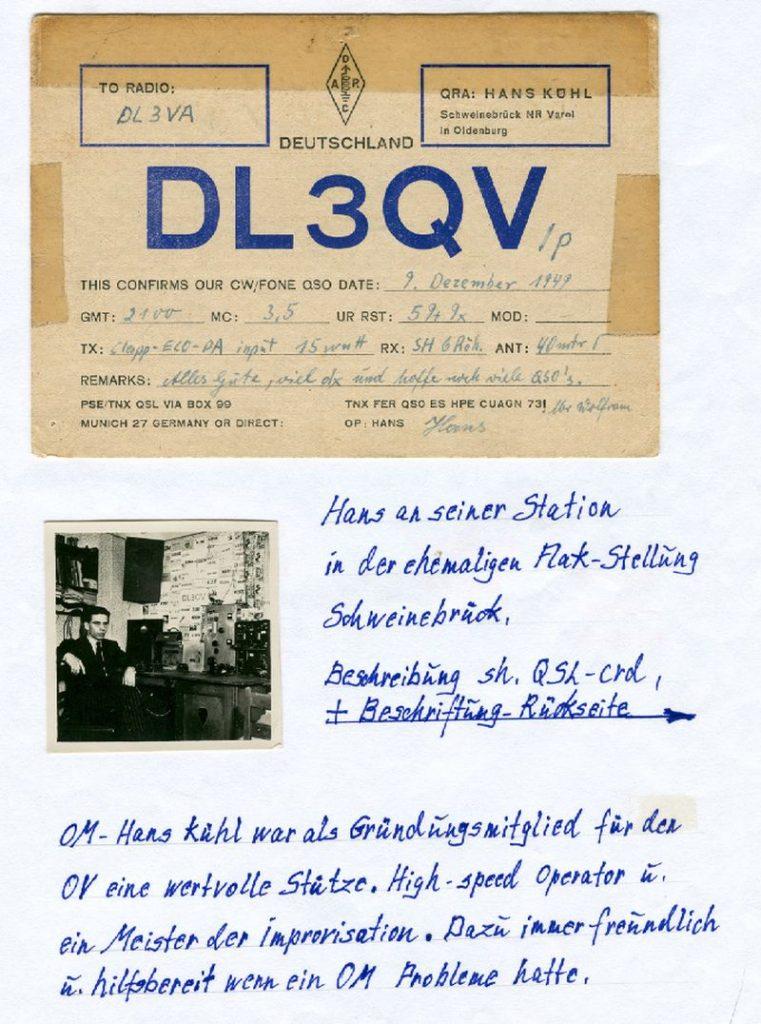 Chronik_Hans DL3QV an seiner Station