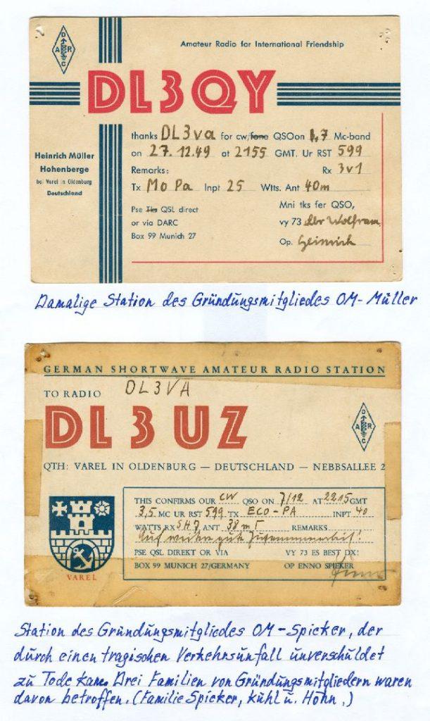 Chronik_QSL-Karten der Gründungs-Mitglieder-1